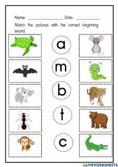 Interactive worksheet The sound of letters