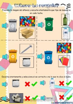 Ficha interactiva Where to recycle?