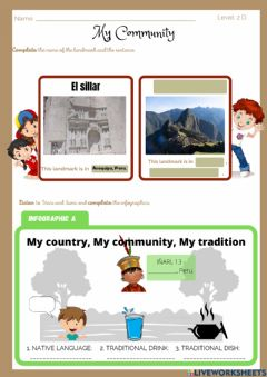 Interactive worksheet Exp 4  Activity 2 Pre-A1 My community