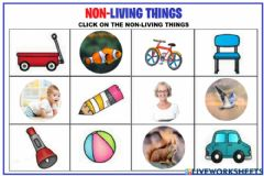 Ficha interactiva Nonliving things