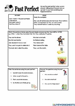 Interactive worksheet Past Perfect 3