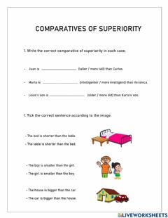 Interactive worksheet Comparatives of superiority