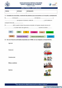 Interactive worksheet Ruc y Rise