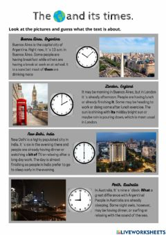 Interactive worksheet The world and its times