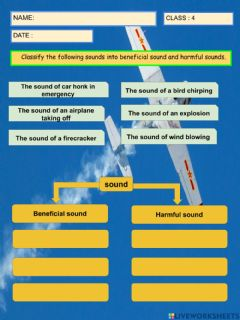 Interactive worksheet Beneficial and Harmful Sound