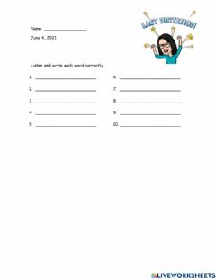 Interactive worksheet Dictation 2nd 06-04