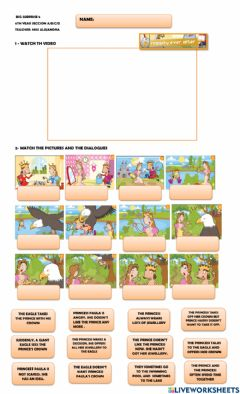 Interactive worksheet Happily ever after