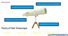 Interactive worksheet Parts of a Telescope