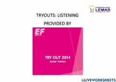 Interactive worksheet Yle tryouts - listening
