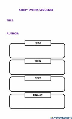 Interactive worksheet Sequence event