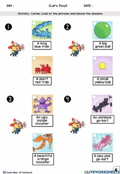 Interactive worksheet Let's Play Year 1 (Listen and choose)