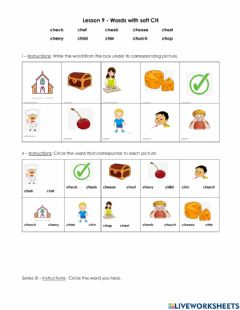Interactive worksheet Words with soft ch