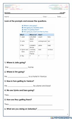 Interactive worksheet 8vo. present continuos for future