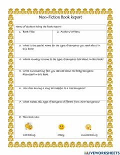 Interactive worksheet Non-Fiction Book Report 6