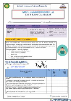 Interactive worksheet Let's reduce stress-3