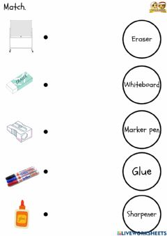 Interactive worksheet Things In Classroom