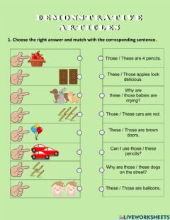 Ficha interactiva Demonstrative pronouns: these and those