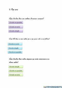 Interactive worksheet Tipo test