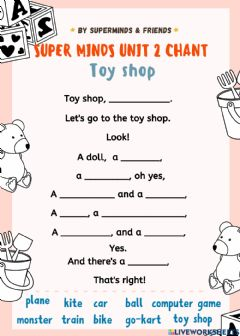 Interactive worksheet Super Minds Unit 2 Chant Page 22 CD1 Track28 Listen and chant