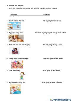 Interactive worksheet Problem and Solution