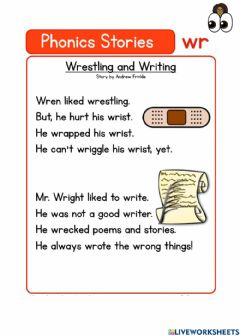 Interactive worksheet Wr Digraph