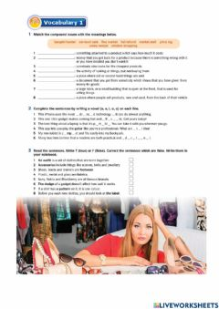 Interactive worksheet English Download Form 5: Unit 4 page 46&48