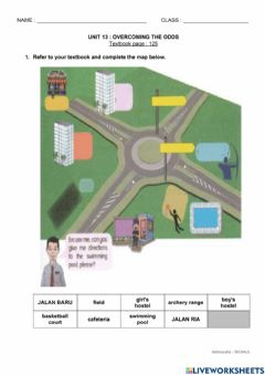 Ficha interactiva YEAR 6 : UNIT 13 - Overcoming the Odds : Directions