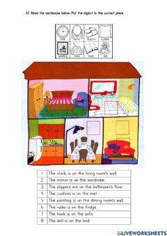 Ficha interactiva Year 3 Module 5 - Prepositions of Place