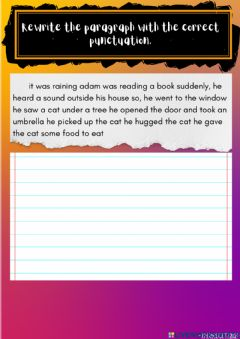 Interactive worksheet Rewrite the paragraph