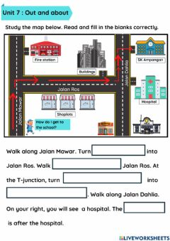 Interactive worksheet Year 3- Unit 7: Out and about