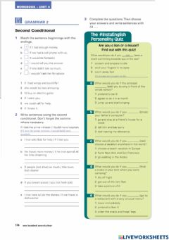 Interactive worksheet Second conditional-1