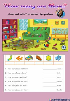 Interactive worksheet How many are there