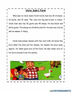 Interactive worksheet Year 3 Module 7 Out and about