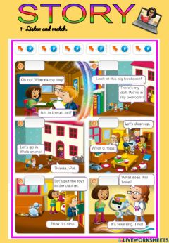 Interactive worksheet Story be neat