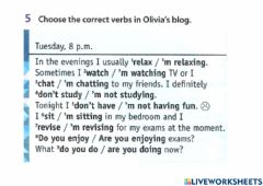 Interactive worksheet Learning World : Review : Exercise 5