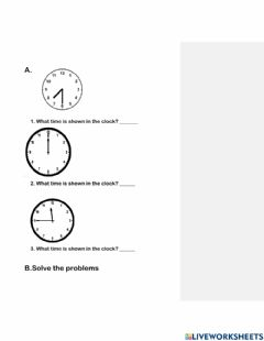 Interactive worksheet Time calculation