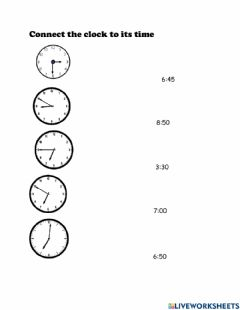 Interactive worksheet Connect time