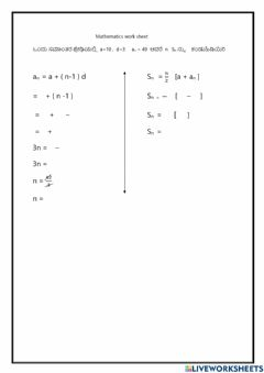 Interactive worksheet Airthematic progration
