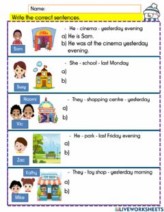 Interactive worksheet Revision year 3 module 8