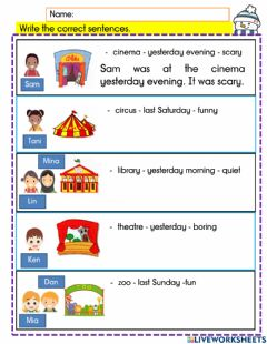 Interactive worksheet Revision year 3 module 8-2