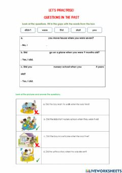 Interactive worksheet The past