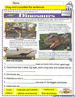 Interactive worksheet Year 4 module 8 Our world pg85