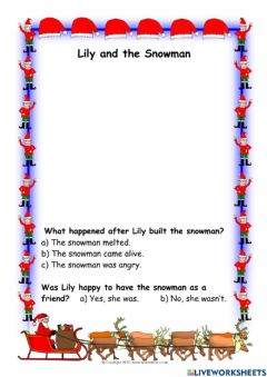 Ficha interactiva Lily and the Snowman.
