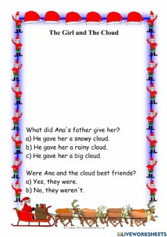 Ficha interactiva The Girl and the Cloud