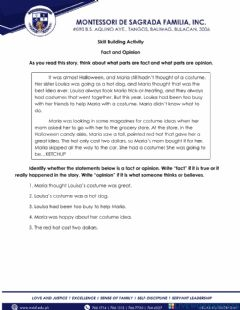 Interactive worksheet SBA 2 Fact and Opinion