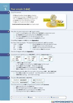 Ficha interactiva Past simple or past continuous