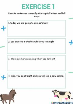 Interactive worksheet Writing and reading exercise
