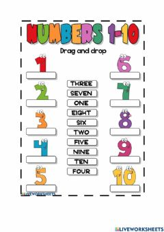 Interactive worksheet English Number Trial