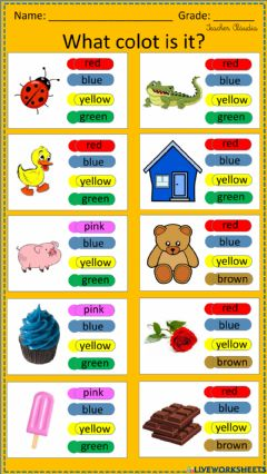 Interactive worksheet What color is it?