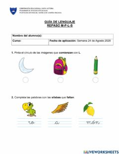 Interactive worksheet Repso l.m,s,p